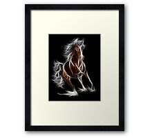 Horse - Chinese Zodiac by Liane Pinel Framed Print