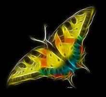 Medicine Wheel Totem Animals by Liane Pinel- Butterfly by Liane Pinel