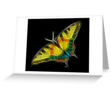 Medicine Wheel Totem Animals by Liane Pinel- Butterfly Greeting Card