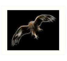 Medicine Wheel Totem Animals by Liane Pinel- Golden Eagle Art Print