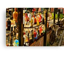 A Mural of Bottles Canvas Print