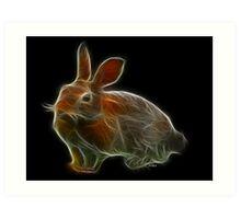 Medicine Wheel Totem Animals by Liane Pinel- Rabbit Art Print