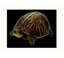 Medicine Wheel Totem Animals by Liane Pinel- Turtle Art Print
