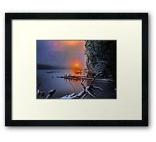 Sunset in the Cascades Suttle Lake Framed Print