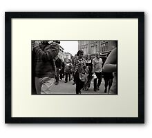 Central london street photography Framed Print