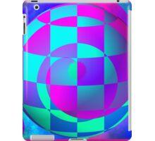 Vaporwave-Swirled Energy Sphere iPad Case/Skin