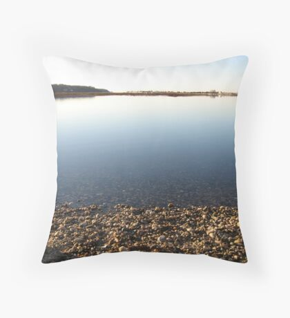 Slack Tide (High)- The harbor mid day Throw Pillow