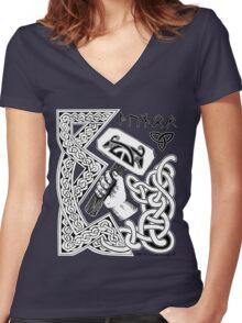 Thor Design Alternate Women's Fitted V-Neck T-Shirt