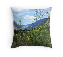 Wildflowers and Rolling Hills Throw Pillow