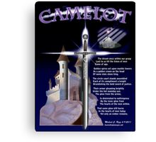 Camelot - The Dream (Poem and Art) Canvas Print