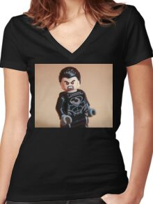 General Zod Women's Fitted V-Neck T-Shirt