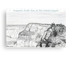 A GRAND Canyon sketch Canvas Print