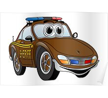 Sheriff Brown Sports Car Poster