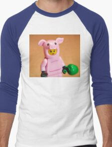 Oink Men's Baseball ¾ T-Shirt