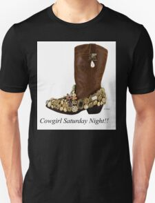Cowgirl Saturday Night Boot Dancing T-Shirt