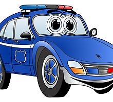 State Patrol Car Cartoon by Graphxpro
