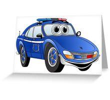 State Patrol Car Cartoon Greeting Card