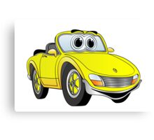 Convertible Yellow Sports Car Canvas Print