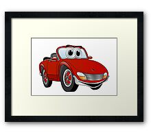 Convertible Red Sports Car Framed Print
