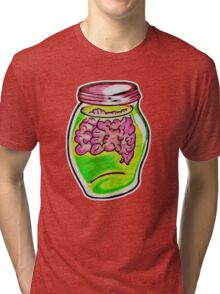 Zombie Brain Jar  Tri-blend T-Shirt