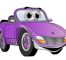 Convertible Purple Sports Car by Graphxpro