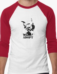 NO-KILL UNITED : ES ADOPT Men's Baseball ¾ T-Shirt