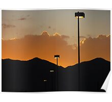 """""""Lamp Posts In the Sunset"""" Poster"""