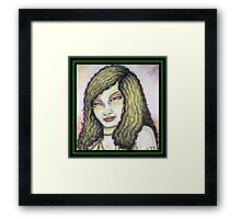 A Portrait of the Lizard Queen Framed Print