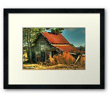 Caudell Road Barn Framed Print