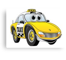 Taxi Cab Sports Car Cartoon Canvas Print