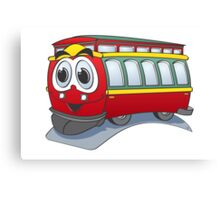 Trolley Cartoon Canvas Print