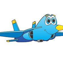 Military Jet Cartoon by Graphxpro
