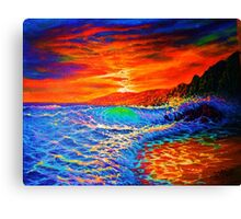 Fractal Shorebreak Canvas Print