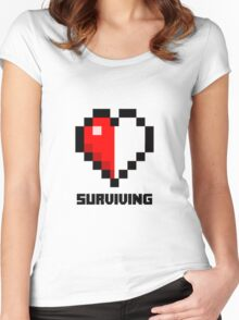 Gaming Heart Women's Fitted Scoop T-Shirt