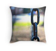 Chain Link; Playground Days  Throw Pillow
