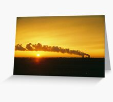 Nuclear Sundown  Greeting Card