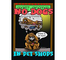 SAY NO TO ANIMALS IN PET SHOPS Photographic Print