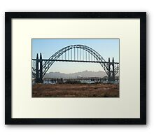 From under the Bridge New Port Oregon Framed Print