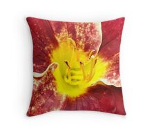 Hemerocallis Vintage Bordeaux  Throw Pillow