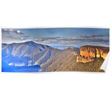 I Love Her Far Horizons (25 Exposure Panorama) - Kanangra Walls Lookout, Blue Mountains World Heritage Area - The HDR Experience Poster