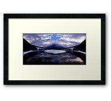 Spray Lake, Canmore, Alberta, Canada Framed Print