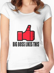 Big Boss likes this Women's Fitted Scoop T-Shirt
