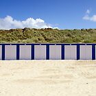 Beach Cabins in White&Blue by 7horses