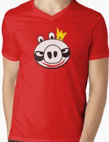 The Joker Vs. Angry Pig Mens V-Neck T-Shirt