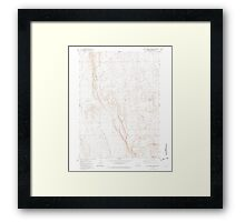 USGS Topo Map Oregon Red Lookout Butte 281240 1981 24000 Framed Print