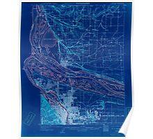 USGS Topo Map Oregon Portland 282795 1905 62500 Inverted Poster