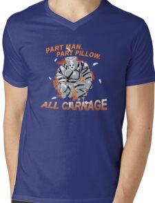 Pillow Man Carnage! Mens V-Neck T-Shirt
