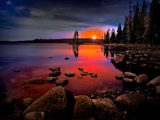Waldo Lake ~ Sunset ~ by Charles & Patricia   Harkins ~ Picture Oregon