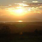 """Winter Sunset, Severn Estuary"" by Jimmy Deas"