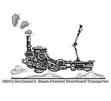 1820's Gentleman's Steam-Powered Transporter Photographic Print